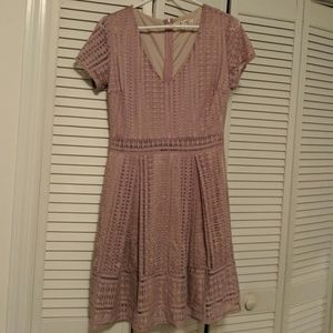 Light pink fit and flare dress